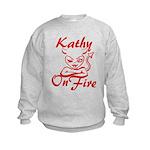 Kathy On Fire Kids Sweatshirt