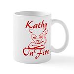 Kathy On Fire Mug