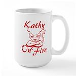 Kathy On Fire Large Mug