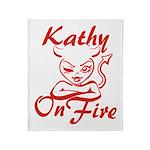 Kathy On Fire Throw Blanket