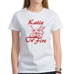 Katie On Fire Women's T-Shirt