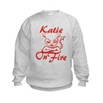 Katie On Fire Kids Sweatshirt