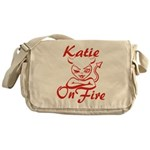 Katie On Fire Messenger Bag