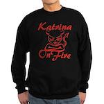 Katrina On Fire Sweatshirt (dark)
