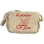 Katrina On Fire Messenger Bag