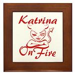 Katrina On Fire Framed Tile