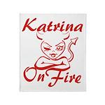 Katrina On Fire Throw Blanket