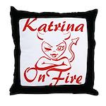 Katrina On Fire Throw Pillow