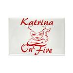 Katrina On Fire Rectangle Magnet