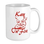 Kay On Fire Large Mug