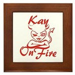 Kay On Fire Framed Tile
