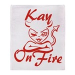 Kay On Fire Throw Blanket