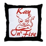 Kay On Fire Throw Pillow