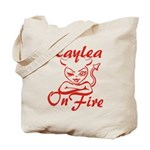 Kaylea On Fire Tote Bag
