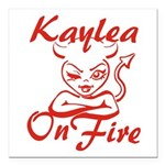Kaylea On Fire Square Car Magnet 3