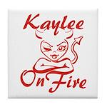 Kaylee On Fire Tile Coaster