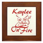 Kaylee On Fire Framed Tile