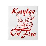 Kaylee On Fire Throw Blanket