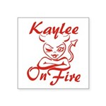 Kaylee On Fire Square Sticker 3