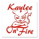 Kaylee On Fire Square Car Magnet 3