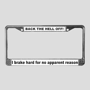 Safety License Plate Frame