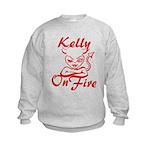 Kelly On Fire Kids Sweatshirt