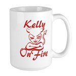 Kelly On Fire Large Mug