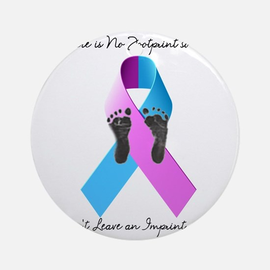 Pregnancy and Infant Loss Awareness Ornament (Roun