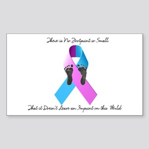 Pregnancy and Infant Loss Awareness Sticker (Recta