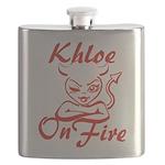 Khloe On Fire Flask