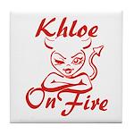 Khloe On Fire Tile Coaster