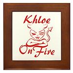 Khloe On Fire Framed Tile