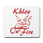 Khloe On Fire Mousepad