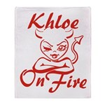 Khloe On Fire Throw Blanket