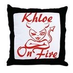 Khloe On Fire Throw Pillow