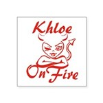 Khloe On Fire Square Sticker 3