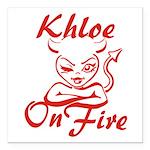 Khloe On Fire Square Car Magnet 3