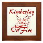 Kimberley On Fire Framed Tile