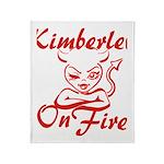 Kimberley On Fire Throw Blanket
