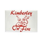 Kimberley On Fire Rectangle Magnet