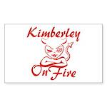 Kimberley On Fire Sticker (Rectangle)
