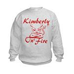Kimberly On Fire Kids Sweatshirt