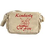 Kimberly On Fire Messenger Bag