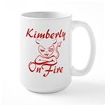 Kimberly On Fire Large Mug