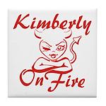 Kimberly On Fire Tile Coaster