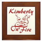 Kimberly On Fire Framed Tile