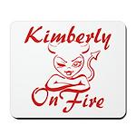 Kimberly On Fire Mousepad