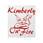 Kimberly On Fire Throw Blanket