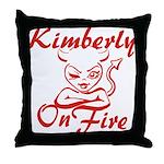 Kimberly On Fire Throw Pillow