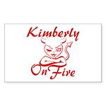 Kimberly On Fire Sticker (Rectangle)